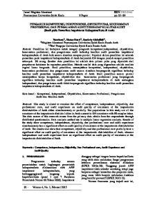 Jurnal Magister Akuntansi ISSN Pascasarjana Universitas Syiah Kuala 9 Pages pp