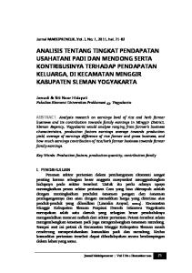 Jurnal MAKSIPRENEUR, Vol. I, No. 1, 2011, hal