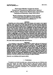 Jurnal Matematika Integratif ISSN Volume 11 No 1, April 2015, pp 45-64