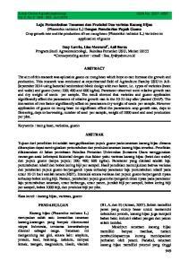 Jurnal Online Agroekoteaknologi. ISSN No Vol.3, No.3 : , Juni 2015