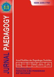 Jurnal Paedagogy Volume 2 Nomor 2 Edisi Oktober 2015 Fakultas Ilmu Pendidikan IKIP Mataram