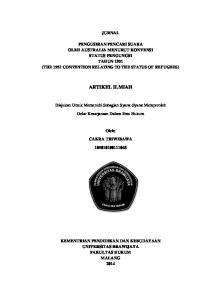 JURNAL PENGUSIRAN PENCARI SUAKA OLEH AUSTRALIA MENURUT KONVENSI STATUS PENGUNGSI TAHUN 1951 (THE 1951 CONVENTION RELATING TO THE STATUS OF REFUGEES)