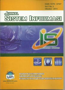 JURNAL SISTEM INFORMASI Fakultas Sains dan Teknologi UIN Syarif Hidayatullah - Jakarta