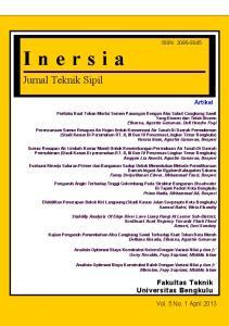 Jurnal Teknik Sipil. Fakultas Teknik Universitas Bengkulu. Artikel ISSN: