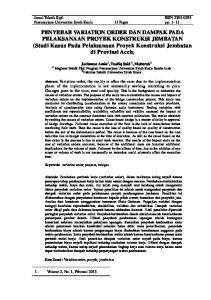 Jurnal Teknik Sipil ISSN Pascasarjana Universitas Syiah Kuala 11 Pages pp. 1-11