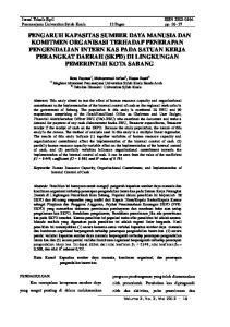 Jurnal Teknik Sipil ISSN Pascasarjana Universitas Syiah Kuala 12 Pages pp