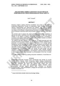 JURNAL TEKNOLOGI INFORMASI & PENDIDIKAN ISSN : VOL. 2 NO. 1 SEPTEMBER 2010