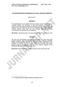 JURNAL TEKNOLOGI INFORMASI & PENDIDIKAN ISSN : VOL. 5 NO. 2 SEPTEMBER 2012