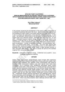 JURNAL TEKNOLOGI INFORMASI & PENDIDIKAN ISSN : VOL. 6 NO. 2 September 2013