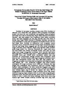 JURNAL TEMATIK ISSN :
