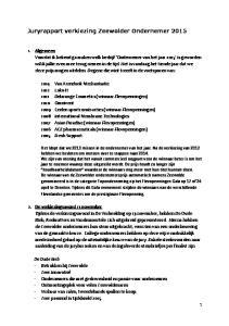 Juryrapport verkiezing Zeewolder Ondernemer 2015