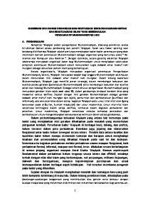 KADERISASI DAN FUNGSI ORGANISASI BAGI REVITALISASI IDEOLOGI MUHAMMADIYAH DAN REAKTUALISASI ISLAM YANG BERKEMAJUAN PENGAJIAN PP MUHAMMADIYAH 1432