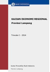 KAJIAN EKONOMI REGIONAL. Provinsi Lampung