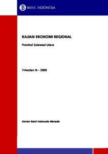 KAJIAN EKONOMI REGIONAL