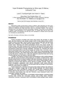 Kajian Etnobotani Pisang-pisang Liar (Musa spp.) Di Malinau, Kalimantan Timur