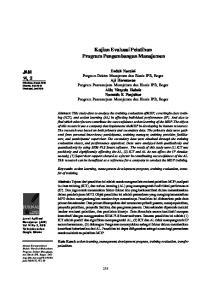 Kajian Evaluasi Pelatihan Program Pengembangan Manajemen