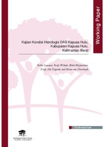 Kajian Kondisi Hidrologis DAS Kapuas Hulu, Kabupaten Kapuas Hulu, Kalimantan Barat
