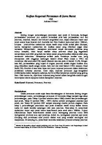 Kajian Koperasi Persusuan di Jawa Barat Oleh Achmad Firman 1
