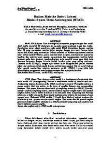 Kajian Matriks Bobot Lokasi Model Space Time Autoregresi (STAR)