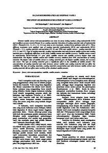 KAJIAN MIKROENKAPSULASI EKSTRAK VANILI THE STUDY ON MICROENCAPSULATION OF VANILLA EXTRACT ABSTRACT