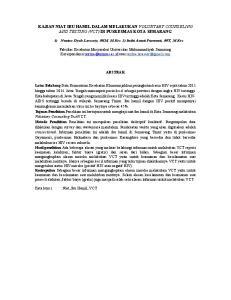 KAJIAN NIAT IBU HAMIL DALAM MELAKUKAN VOLUNTARY COUNSELING AND TESTING (VCT) DI PUSKESMAS KOTA SEMARANG