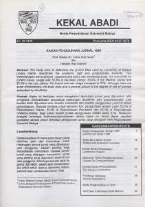 KAJIAN PENGGUNAAN JURNAL Prof. Madya Dr. Azhar Haji Husin 1 dan Haji Ibrahirrr'