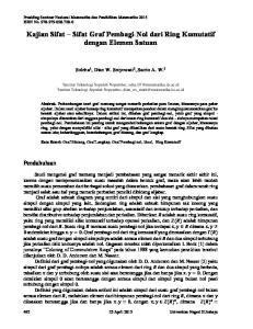 Kajian Sifat Sifat Graf Pembagi-Nol dari Ring Komutatif dengan Elemen Satuan