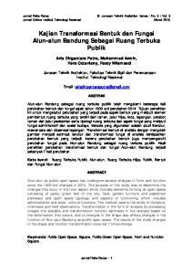 Kajian Transformasi Bentuk dan Fungsi Alun-alun Bandung Sebagai Ruang Terbuka Publik