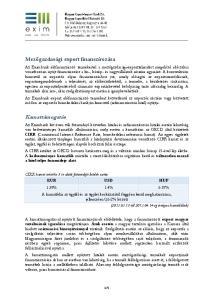 Kamattámogatás. Mezőgazdasági export finanszírozása