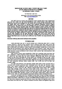 KANDUNGAN NUTRISI HASIL FERMENTASI KULIT KOPI (STUDI KASUS DESA AIR MELES BAWAH KECAMATAN CURUP TIMUR) PENDAHULUAN