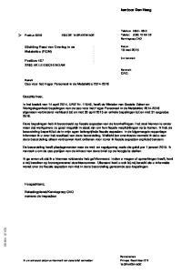 kantoor Den Haag Stichting Raad van Overleg in de Metalektro (ROM) Postbus AK LEIDSCHENDAM Geachte heer,