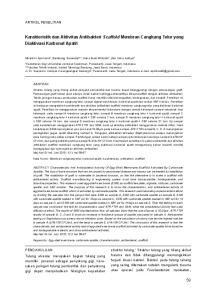 Karakteristik dan Aktivitas Antibakteri Scaffold Membran Cangkang Telur yang Diaktivasi Karbonat Apatit