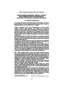KARAKTERISTIK DISTRIBUSI MINERAL UBAHAN: JEJAK EPISODE KEGIATAN HIDROTERMAL DI DAERAH CUPUNAGARA, SUBANG, JAWA BARAT