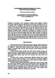 KARAKTERISTIK EDIBLE FILM BERBAHAN DASAR GELATIN KULIT KAKI BROILER. Muhammad Taufik 1 dan Fatma 2 ABSTRAK