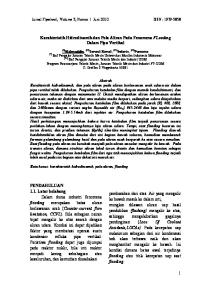 Karakteristik Hidrodinamik dan Pola Aliran Pada Fenomena FLooding Dalam Pipa Vertikal
