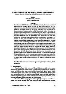 KARAKTERISTIK KEILMUAN IAIN SAMARINDA (Melacak Akar-akar Epistemologi Kajian keilmuan pada IAIN Samarinda)