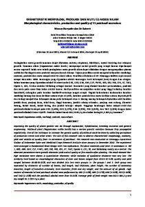 KARAKTERISTIK MORFOLOGI, PRODUKSI DAN MUTU 15 AKSESI NILAM Morphological characteristics, production and quality of 15 patchouli accessions