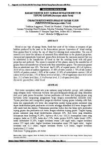 KARAKTERISTIK ROTI TAWAR DENGAN SUBSTITUSI TEPUNG GAYAM (Inocarpus edulis Forts) ABSTRAK