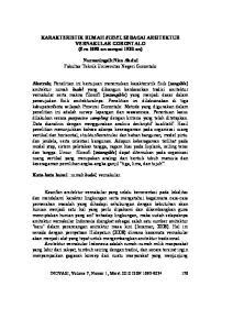 KARAKTERISTIK RUMAH BUDEL SEBAGAI ARSITEKTUR VERNAKULAR GORONTALO (Era 1890-an sampai 1930-an)
