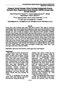 Kata kunci : regenerative shock absorber, orifice, gaya redam, daya bangkitan