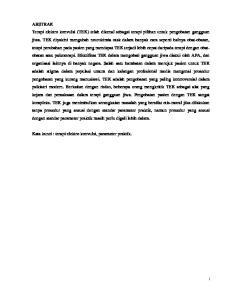 Kata kunci : terapi elektro konvulsi, parameter praktik