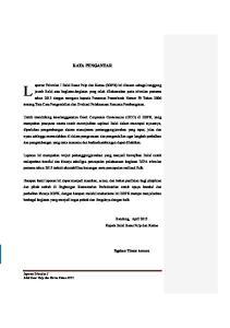 KATA PENGANTAR. Bandung, April 2013 Kepala Balai Besar Pulp dan Kertas. Ngakan Timur Antara. Laporan Triwulan I Balai Besar Pulp dan Kertas Tahun 2013