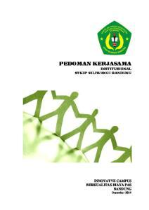 KATA PENGANTAR. Cimahi, Desember Dr. H. T. Effendy Suryana, M.Pd. Wakil Ketua Bidang Kerjasama dan Pengembangan Kampus