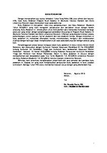 KATA PENGANTAR. Mataram, Agustus 2016 Dekan, Ttd. Dr. Muaidy Yasin, MS. NIP