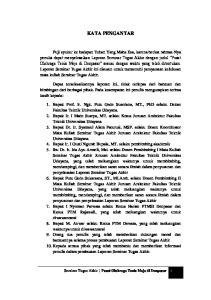 KATA PENGANTAR. Seminar Tugas Akhir Pusat Olahraga Tenis Meja di Denpasar