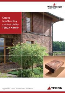 Katalog lícového zdiva a cihlové dlažby TERCA Klinker