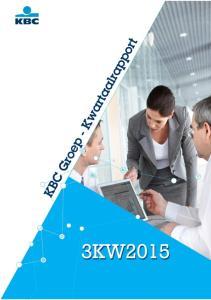 KBC Groep I Kwartaalrapport 3KW2015 I p.1