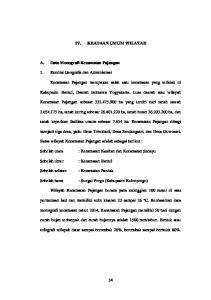 KEADAAN UMUM WILAYAH. Kabupaten Bantul, Daerah Istimewa Yogyakarta. Luas daerah atau wilayah