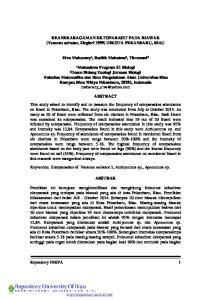 KEANEKARAGAMAN EKTOPARASIT PADA BIAWAK (Varanus salvator, Ziegleri 1999) DIKOTA PEKANBARU, RIAU. Elva Maharany¹, Radith Mahatma², Titrawani²