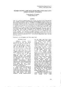 KEANEKARAGAMAN JENlS lkan DI SEPANJANG ALiRAM SUNGAl OPAK DAERAH lstlmewa YOGYAKARTA. Trijoko dan Fx.~S. Pranoto Fakultas Biologi UGM